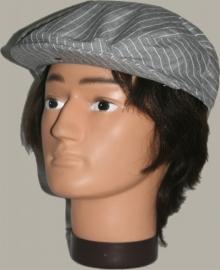 Pet `Sibbe` - flat-cap - beige/grijs met witte streep  - maat 58/60 - FI