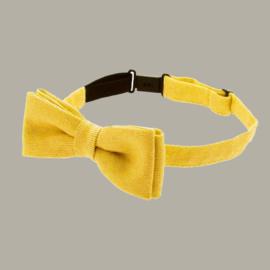 Bow-Tie 'Knut Jr.' - Mono Yellow - vlinderstrik geel - one size - CTH Mini