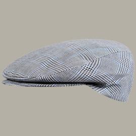 Pet 'Gijs' - grijs geruite flat-cap - maat 57/62 - FI05