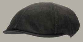 Pet `Jasper` Denim Black - duckbill cap zwart - maat 48/50 - CTH Mini