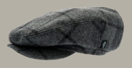 Pet `Carl Granda Graphite` - grijs wollen cap met oorflappen - maat 46/52 - CTH Mini
