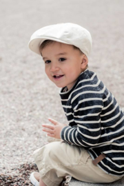 Pet `Gordon` Cotolino Beige - newsboy cap - beige/zand - maat 48/50/52/54 - CTH Mini