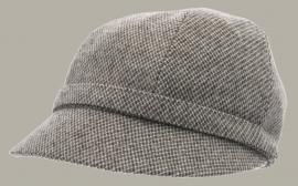 Muts 'Helena Mastro Light Grey' - bruin wollen hoedje voor dames - maat 57/58 - CTH Ericson