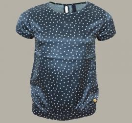 Vinrose blouse 'Karleen' Navy - polkadot shirt - maat 86/92 - VR89