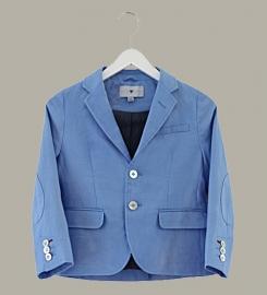Little Linens 'Heritage Blue' linnen blauwe blazer - maat 158 - LL51