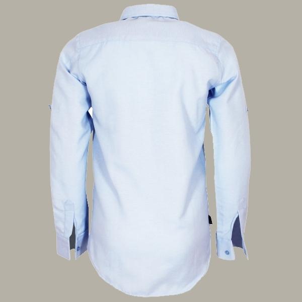 Vinrose overhemd 'Justin' lichtblauw - maat 122/128 - VR78