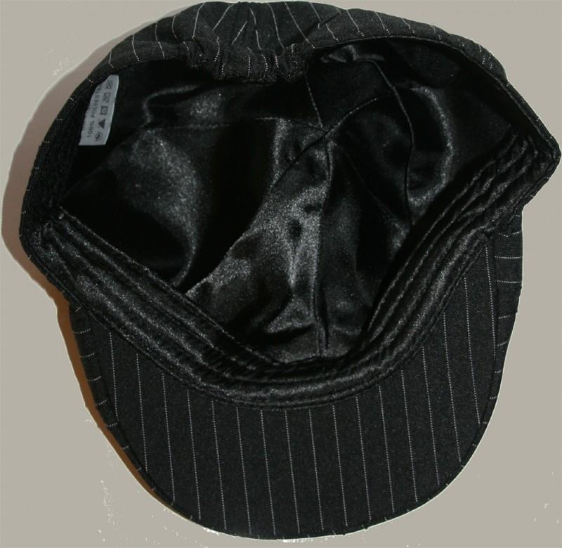Pet `Chiel´ - driver-cap - zwarte krijtstreep - maat 56/58 - BN