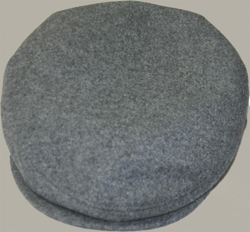 Pet `Daaf` - flat-cap - uni grijs wollen - maat 56 - FI
