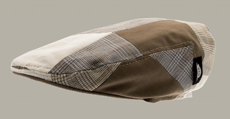 Pet `Philip Patchwork Beige` - flat-cap - maat 58 - CTH Ericson