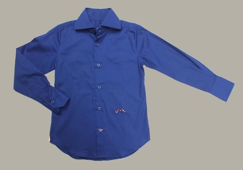 Jan van Trier - overhemd blauw - maat 116 - JT12