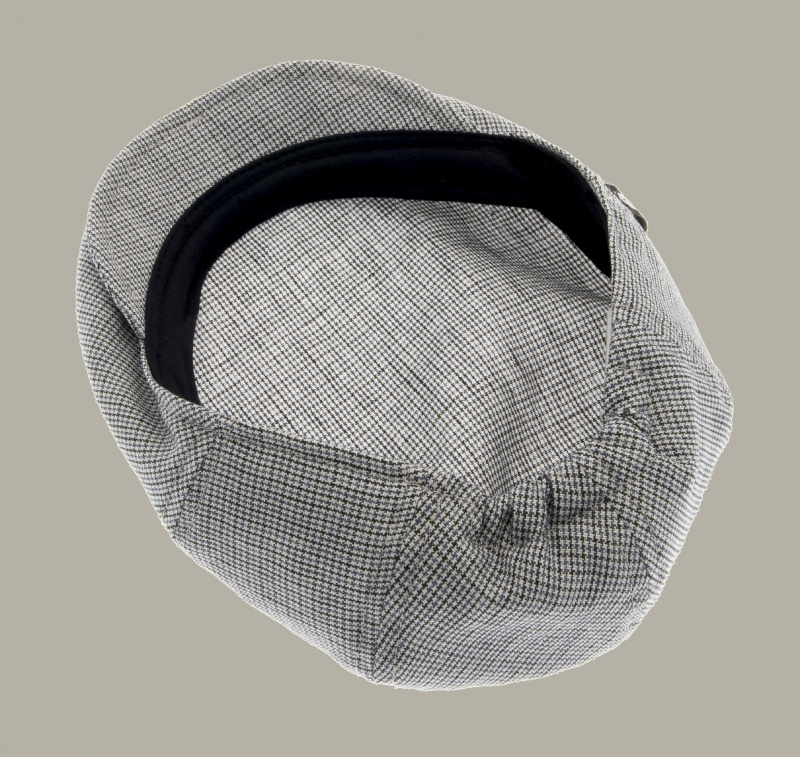 Pet `Carl Jr.` Linen Check - flat-cap - blauw geruit - maat 60 - CTH Mini