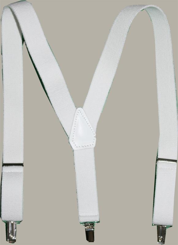 Bretels - wit - maat baby/kleuter 65 cm.