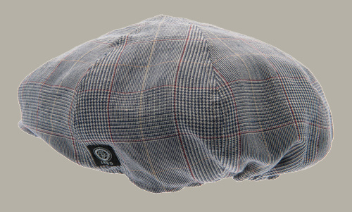 Pet `Lorentz` Estate Blue - newsboy cap blauw geruit - maat 46/48/50/52/54/56 - CTH Mini