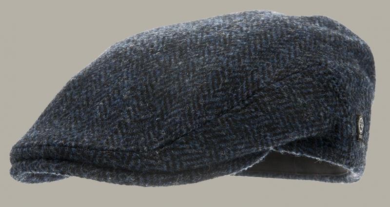 Pet `Edward Harris Tweed Blue` - flat-cap - blauw wollen - maat 60/62 - CTH Ericson