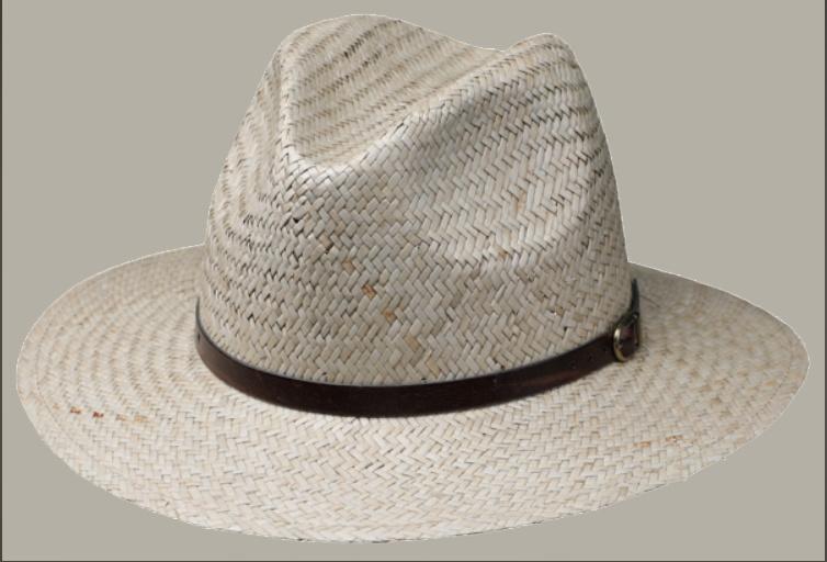 Fedora hoed 'Ralph' - strohoed met riempje - maat 57/59 - FI06
