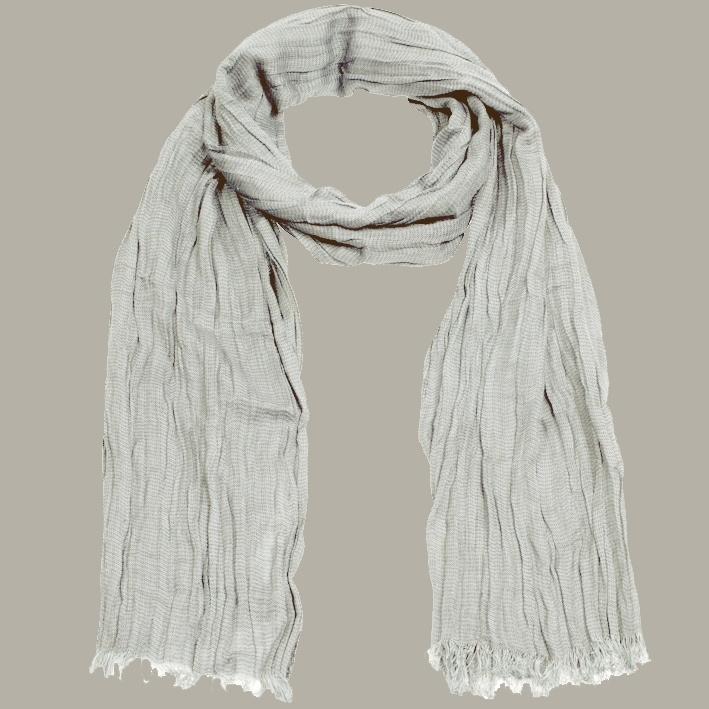 Shawl 'Job' grijs - handgeweven viscose/linnen - FI