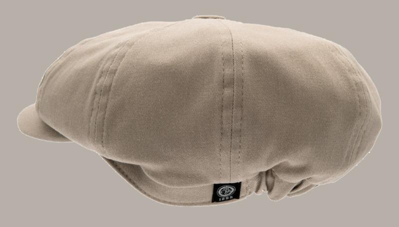 Pet `Gordon` Mono Kakhi - newsboy cap - beige/zand - maat 46/48/54/56 - CTH Mini