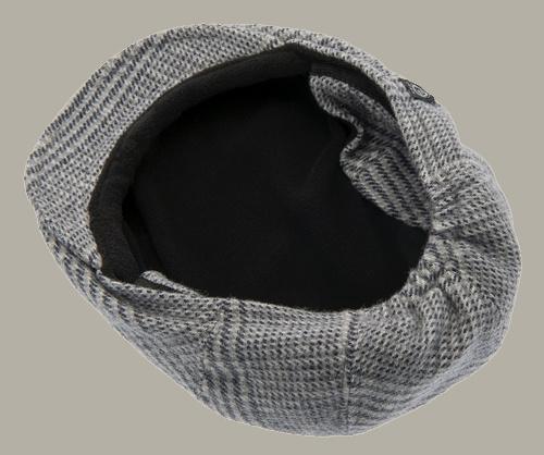 Pet 'Philip Glencheck Blue-Grey' - flatcap met oorflappen - grijs pied-de-poule - maat 46/48/52/56 - CTH Mini