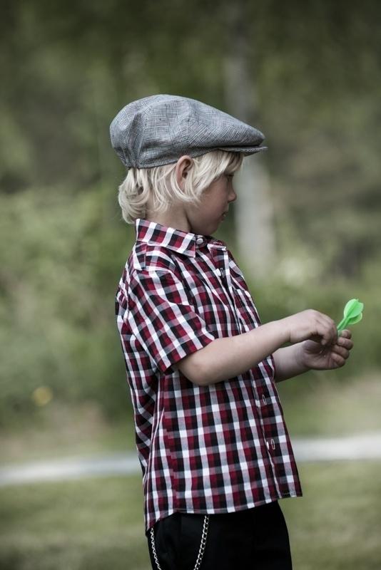 Pet `Carl Wales` - flat-cap - zwart/rood geruit - maat 58 - CTH Ericson