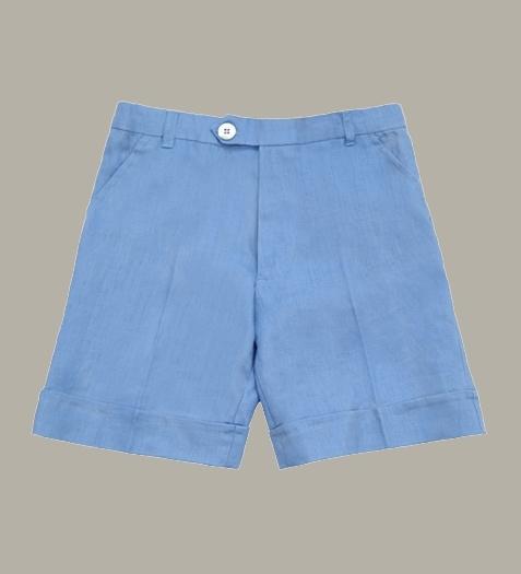 Little Linens 'Heritage Blue' linnen bermuda shorts - maat 98/104 - LL49