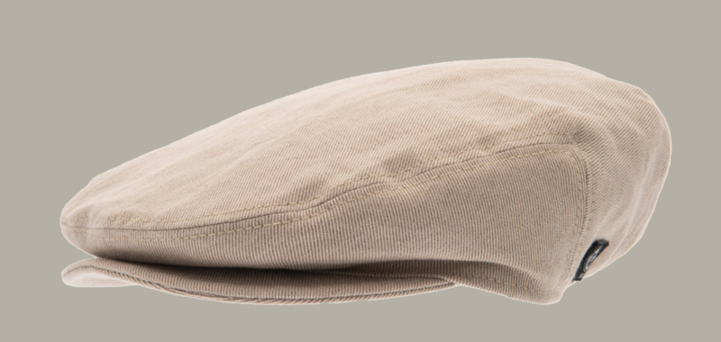 Pet `Carl Slub Kakhi - flat-cap cap - beige/zand - maat 46/48/50/56 - CTH Mini