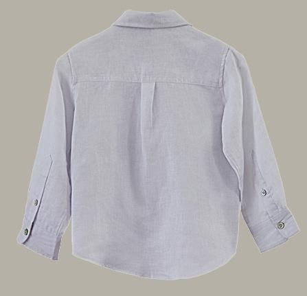 Little Linens wit linnen overhemd - maat 86 - LL39