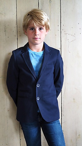 Vinrose colbert / blazer 'Rob' - 'Navy' donkerblauw - maat 146 - VR95