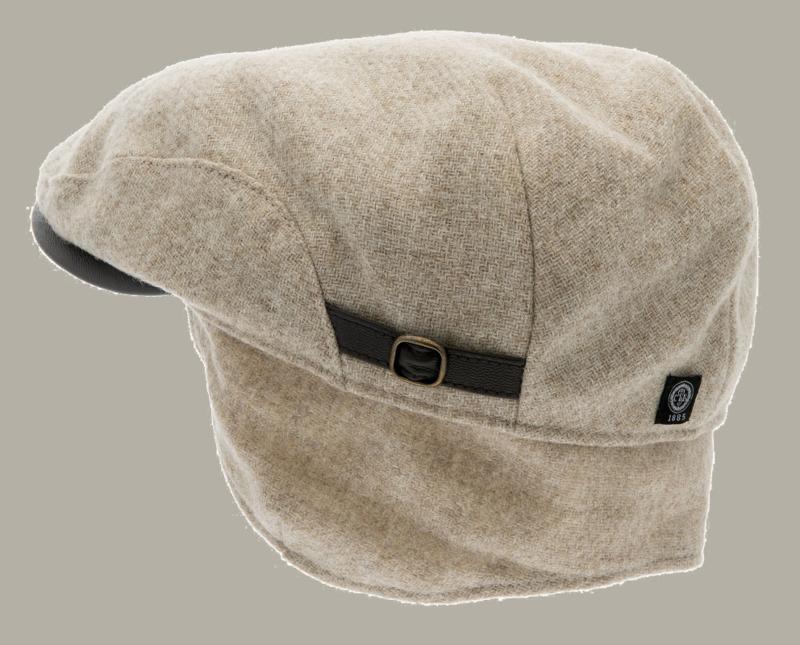 Pet `Ernst Moon Shetland Beige` - flat-cap - beige wollen pet - maat 60/62 - CTH Ericson