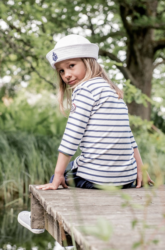 Sailor cap 'Alfred Jr.' Cadet Pique White - maat 50/52 - CTH Mini