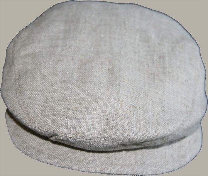 Pet  'Jonas' - naturel linnen newborn baby flat-cap - maat 36-38 /40-42 - ClassyBoy