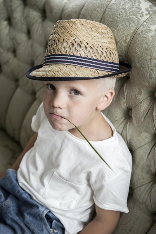 Fedora hoed 'Chris Jr.' Natural Straw - maat 49/51/53/55 - CTH Mini