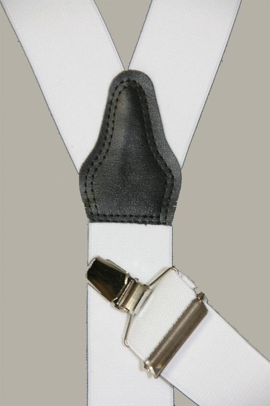 Bretels - wit - smalle clips - maat 134 t/m volwassen maat