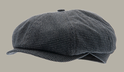 Pet `Alan` Petite Blue - newsboy cap - blauw pied-de-poule - maat 61 - CTH Ericson