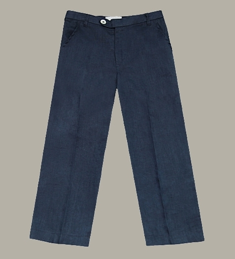 Little Linens 'Midnight Navy' donkerblauwe linnen pantalon - maat 146/152 - LL48