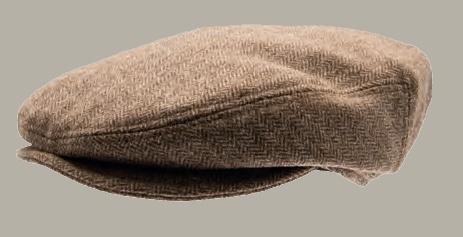 Pet `Carl Herringbone Brown` - flat-cap met oorflappen - bruin visgraat - maat 52/56/59/61 - CTH Mini