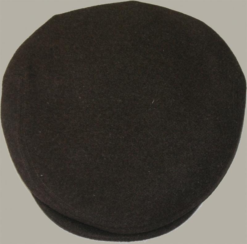 Pet `Chiem` - flat-cap - uni bruin wollen - maat 55/56/58/60 - FI