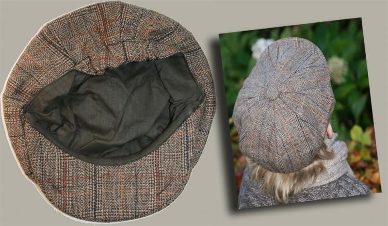 Pet `Kobus` - bruin geruite kruimelpet - maat 50-53 - BN