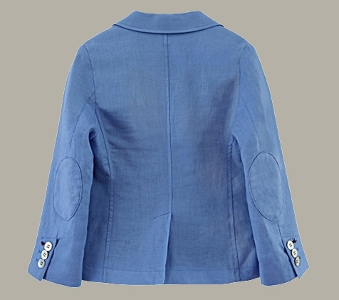 Little Linens 'Heritage Blue' linnen blauwe blazer - maat 146/152 - LL51