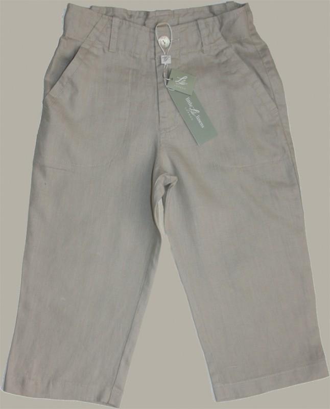 Little Linens 'Wheat' zand linnen lange broek - maat 176 - LL25