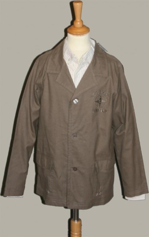 MB Boys overhemd met colbert bruin - maat 152 - DM30-31