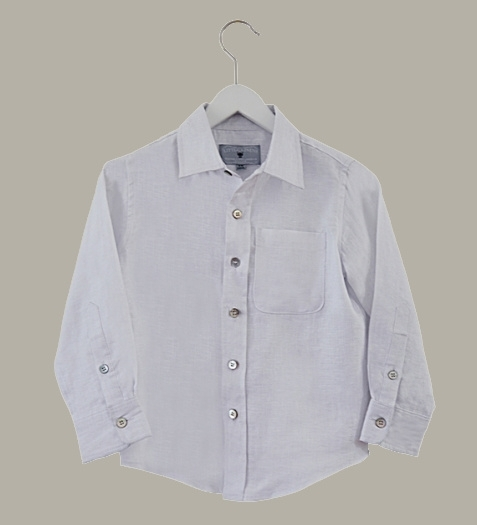 Little Linens wit linnen overhemd - maat 146/152 - LL39