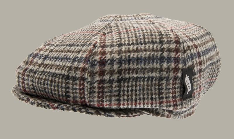 Pet `Theodor Plejdo Multi` - newsboy cap met oorflappen - beige/bruin met kleuren - maat 46/50 - CTH Mini