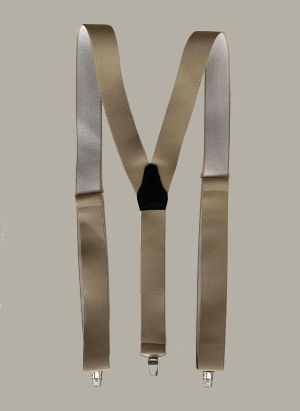 Bretels - zand - smalle clips - maat 134 t/m volwassen maat