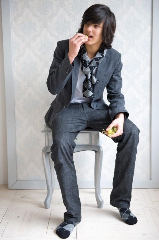 Bonnie Doon kniekous `Argyle` zwart met grijs - maat 19 t/m 38 - BD10