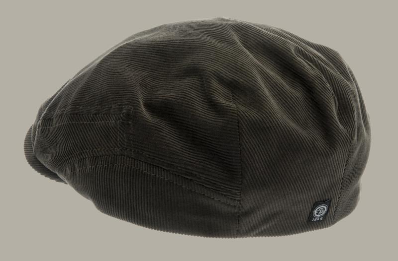 Pet 'Lucas' Soft Cord Olive - groene flat-cap - maat 59/62 - CTH Ericson
