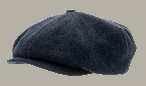 Pet 'Branson' Ramie Blue - newsboy cap - donkerblauw - maat 58/59/60/61 - CTH Ericson