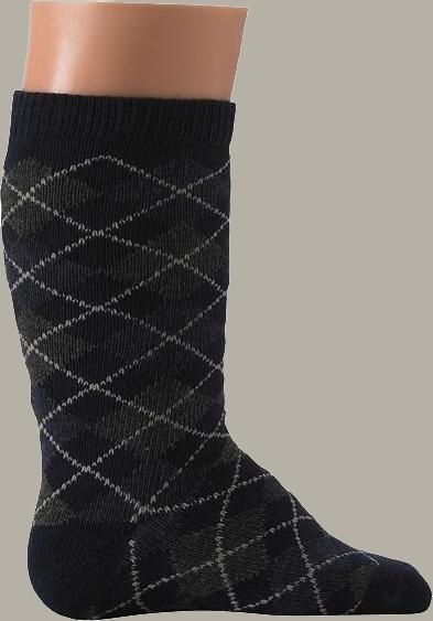 Bonnie Doon kniekous `Argyle` donkerblauw/grijs - maat 0-8 maanden - BD09
