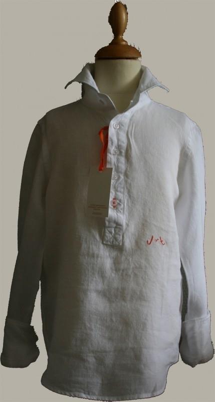 Jan van Trier - linnen granddad hemd - wit - maat XS - JT09