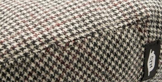 Pet `Philip Porto` - flat-cap met oorflappen - zwart/ecru/rood geruit - maat 46 - CTH Mini