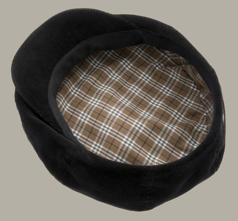 Pet 'Lucas' Soft Cord Black - zwarte flat-cap - maat 59/62 - CTH Ericson